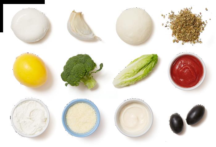 Broccoli & Mozzarella Calzones with Caesar Salad