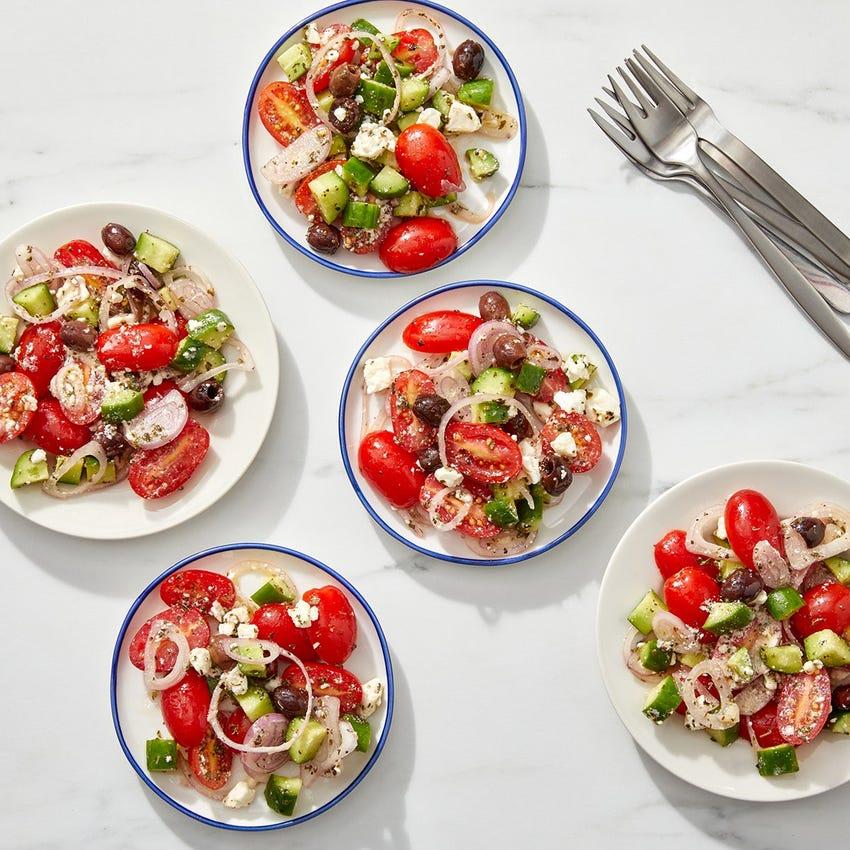 Greek Salad with Oregano-Lemon Dressing