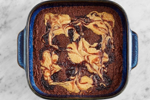 Bake the brownies & serve your dish