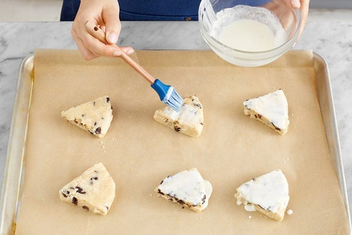 Form & bake the scones