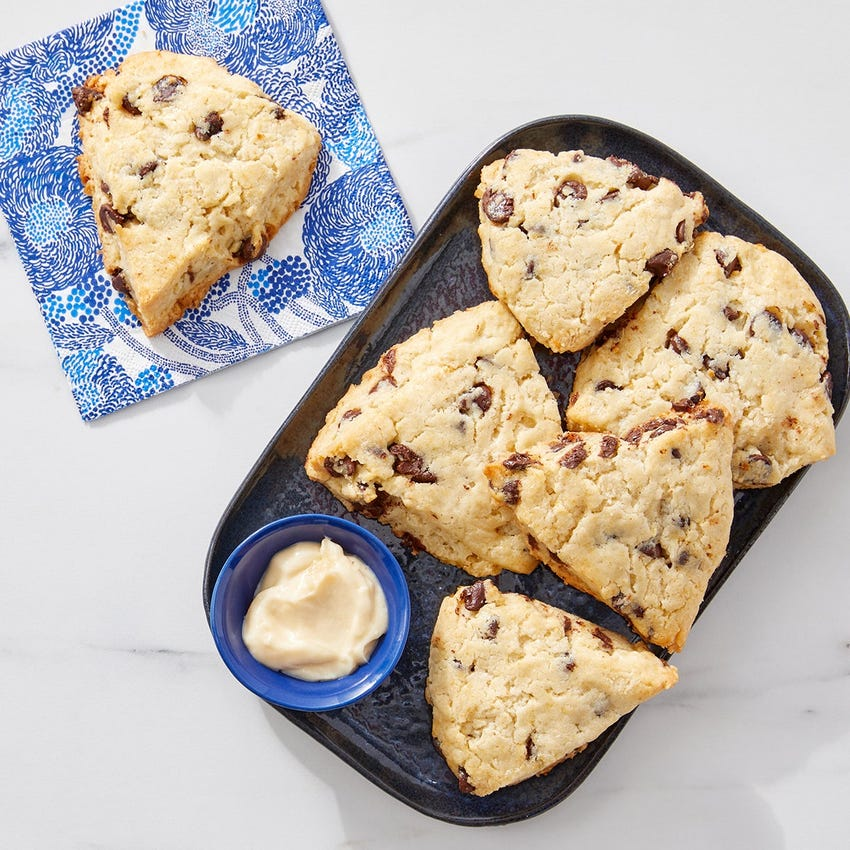 Chocolate Chip Scones with Maple Mascarpone