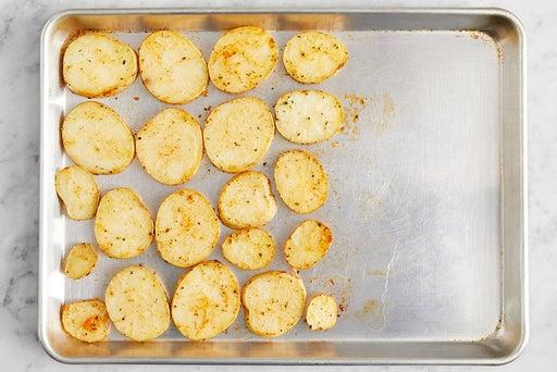 Prepare & start the potatoes
