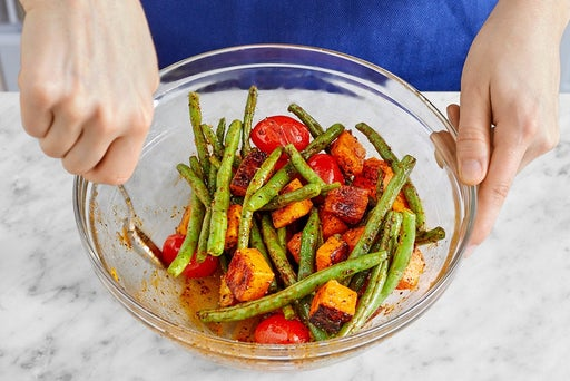 Roast the remaining vegetables & serve your dish