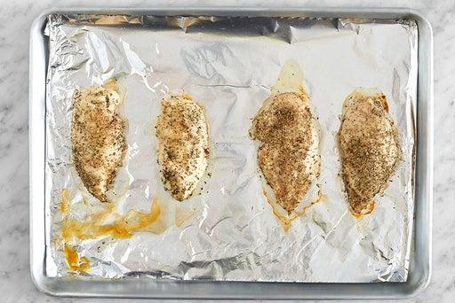Roast & slice the chicken