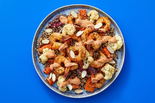 Finish & Serve the Shrimp & Veggie Quinoa