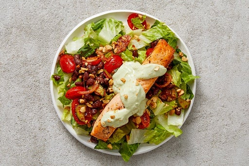 Finish & Serve the Salmon & Black Bean Salad