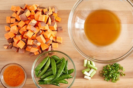 Prepare the ingredients & make the dressing