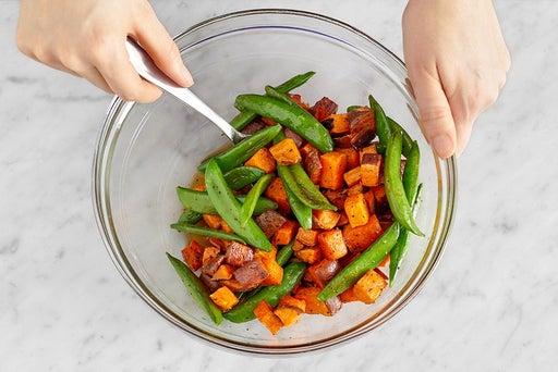 Dress the vegetables & serve your dish