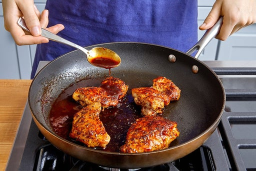 Cook & glaze the chicken