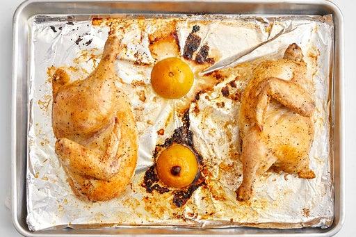 Roast the lemon & chicken
