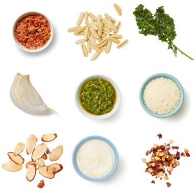 Pesto & Kale Pasta with Mascarpone