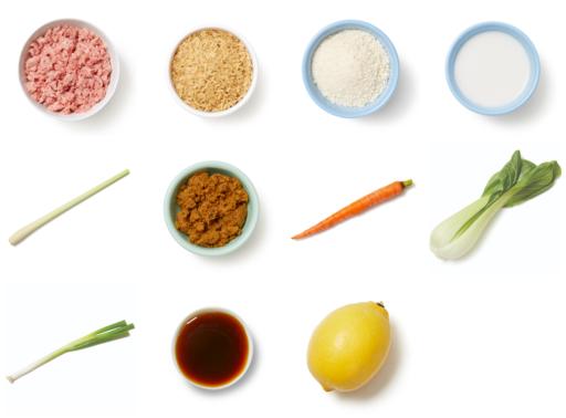 Turkey Meatballs & Bok Choy in Coconut Lemongrass Curry