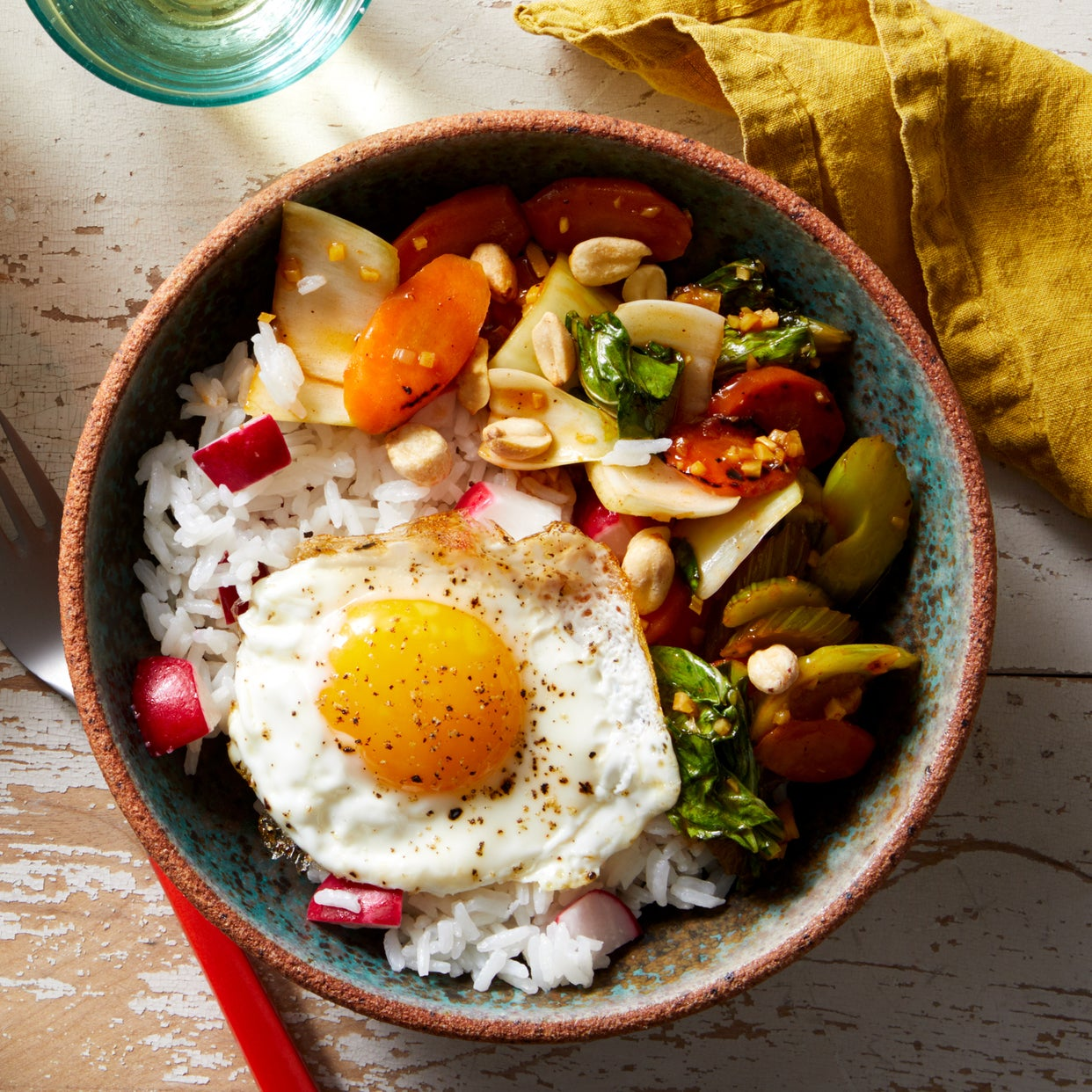 Recipe: Sweet & Sour Vegetable Stir-Fry With Fried Eggs
