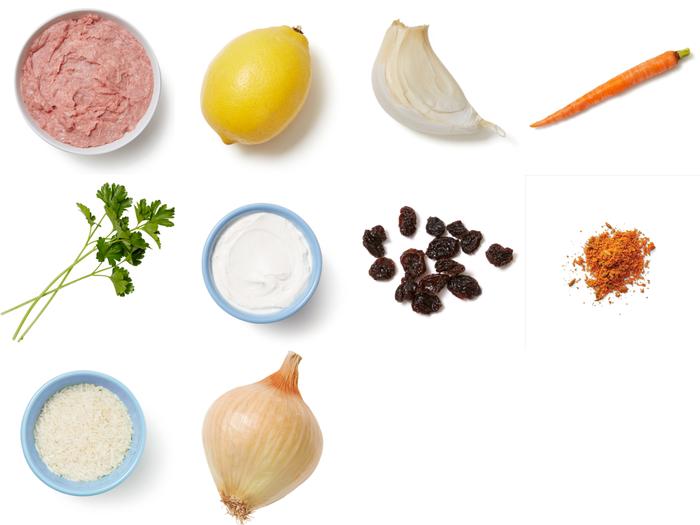 Turkey & Shawarma-Spiced Rice with Carrots & Lemon Labneh