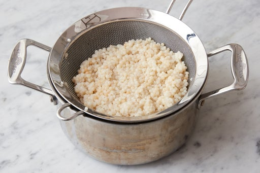 Toast & cook the couscous: