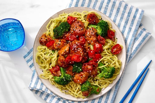 Sweet & Sour Chicken with Tomato Gastrique & Ramen Noodles