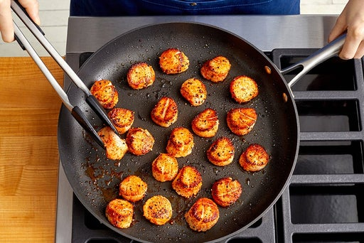 Sear the scallops