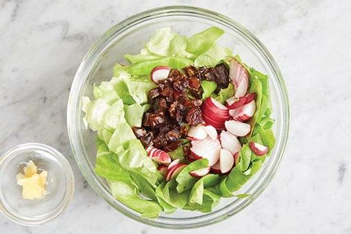 Prepare the ingredients & start the salad