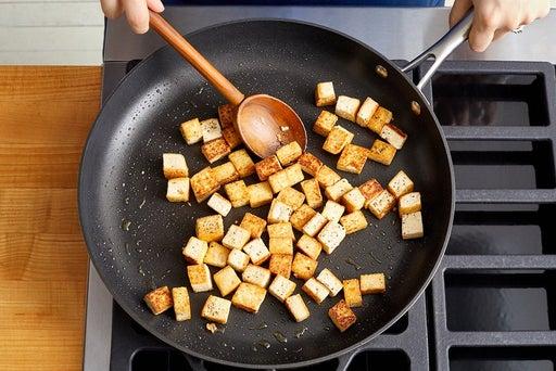 Prepare & sear the tofu