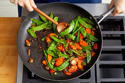 Cook the vegetables & serve your dish