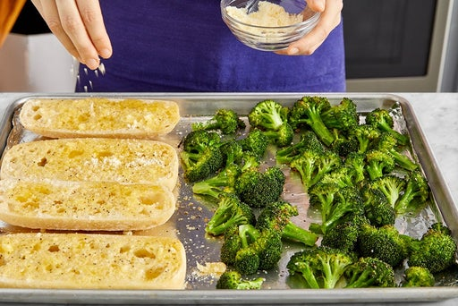 Finish the broccoli & make the garlic bread