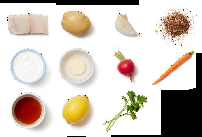 Honey-Butter Barramundi with Za'atar Roasted Vegetables