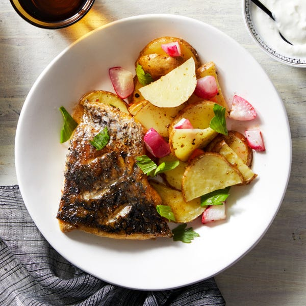 Honey-Butter Barramundi with Za'atar Roasted Vegetables