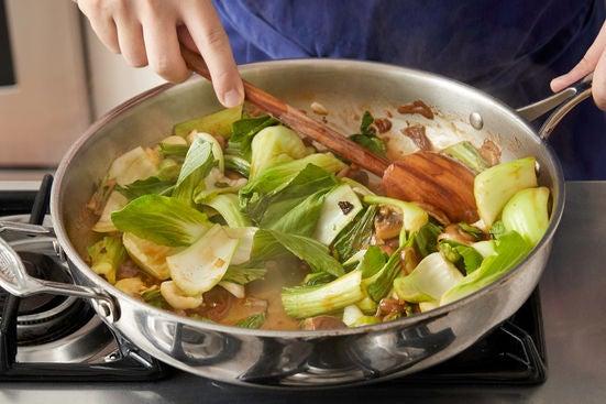 Glaze the vegetables: