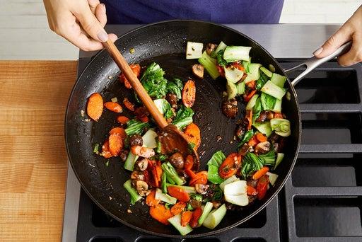 Start the stir-fry