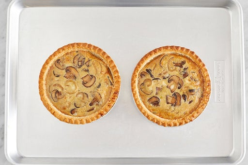 Assemble & bake the quiches