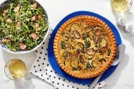 Truffle & Fontina Quiche with Mushrooms, Zucchini & Spinach