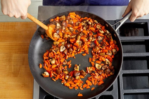 Cook the mushrooms & carrots