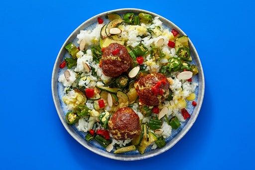 Finish & Serve the Spanish-Style Pork Chorizo Meatballs