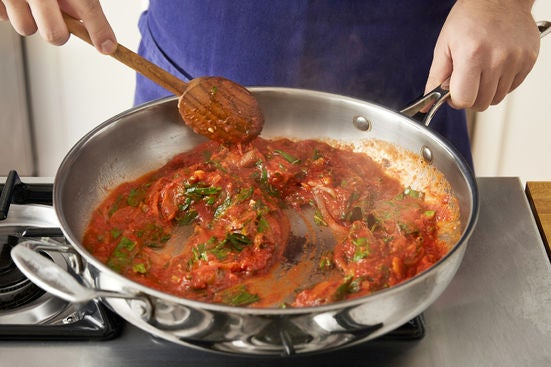 Make the sauce: