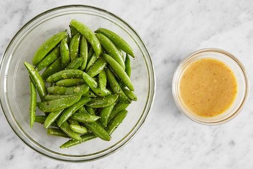 Prepare the peas & make the sauce