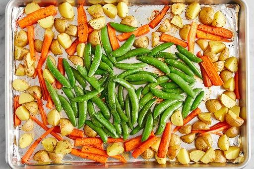 Roast the peas