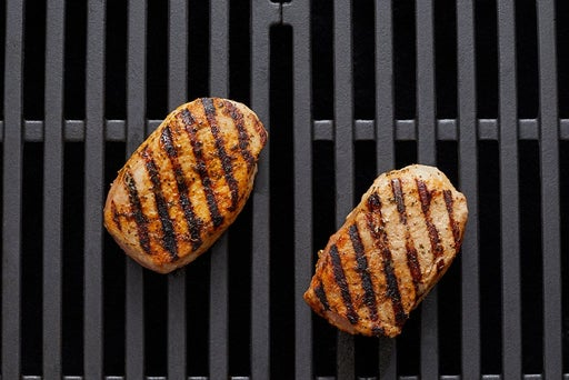 Grill the pork & serve your dish