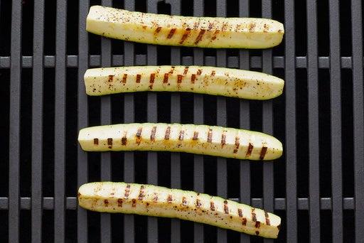 Grill & chop the zucchini