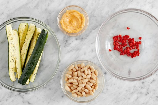 Prepare the ingredients & make the Calabrian mayo