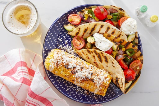 Grilled Veggie Tacos with Elote