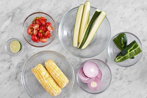 Prepare the ingredients & make the salsa