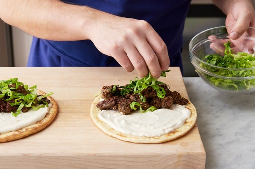 Finish the pitas & serve your dish:
