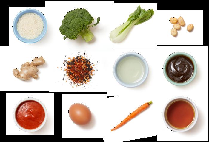 Vegetable Fried Rice with Togarashi Peanuts