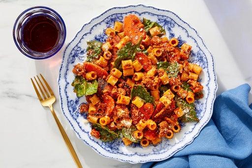 Romesco Turkey & Ditali Pasta with Carrots & Spinach