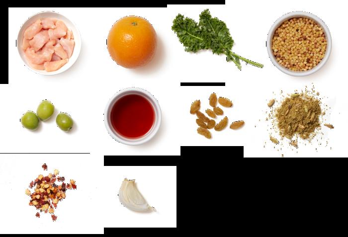 Tuscan-Spiced Chicken & Fregola Sarda with Warm Citrus Vinaigrette