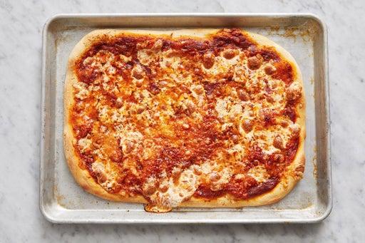 Assemble & bake the pizza