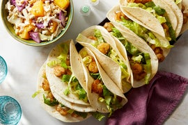 Jerk Shrimp Tacos with Cabbage & Orange Slaw