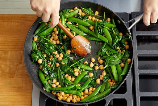 Cook the remaining vegetables & chickpeas