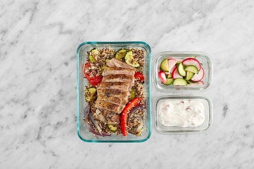 Assemble & Store the Dukkah Pork Chops