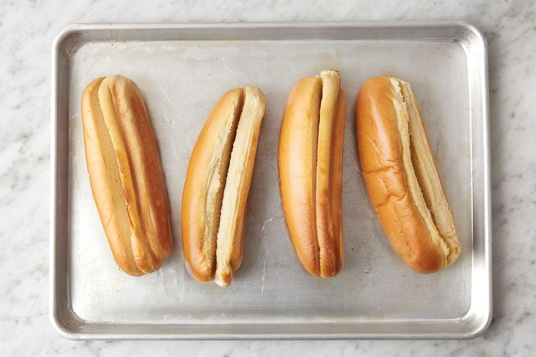Toast the rolls:
